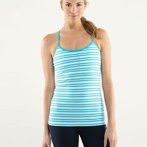 LULULEMON POWER Y TANK IN AQUA BLUE